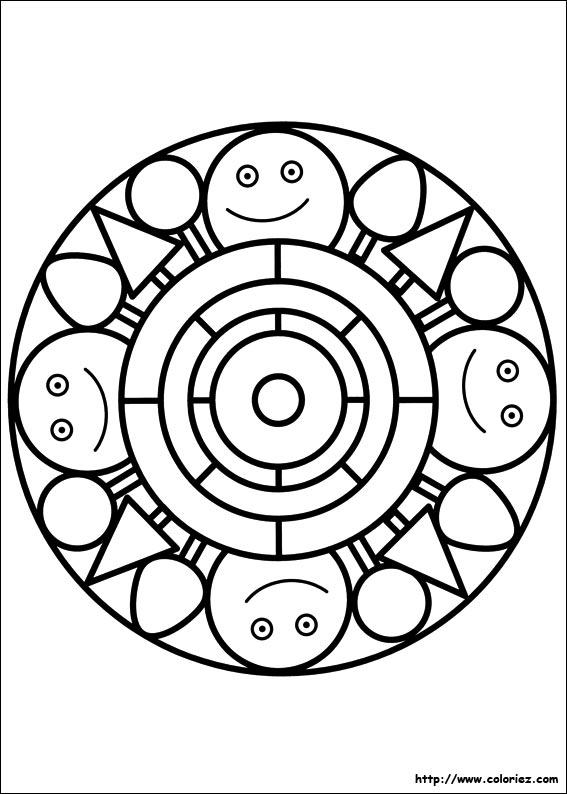 Coloriage Mandala Maternelle A Imprimer Gratuit.Coloriage Coloriage Mandala Campagne