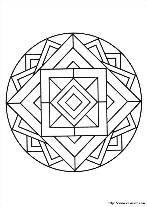 Coloriage Mandala 3d