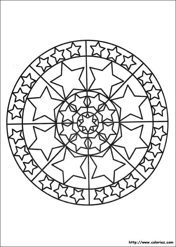 Coloriage De Mandala Etoile.Coloriage Mandala Etoile