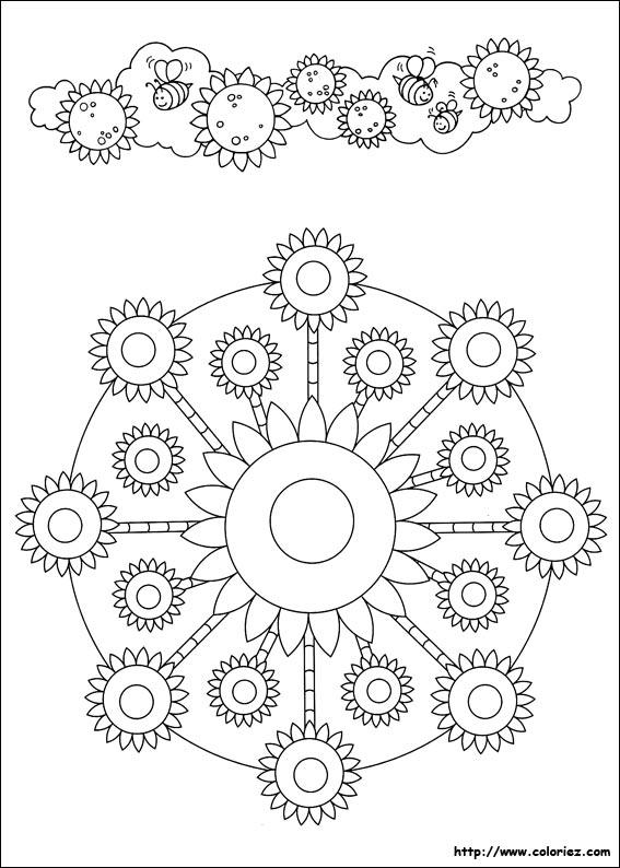 Coloriage Mandala De Tournesol