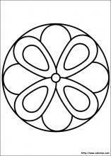 Coloriage Tres Facile.Coloriage Mandalas Choisis Tes Coloriages Mandalas Sur