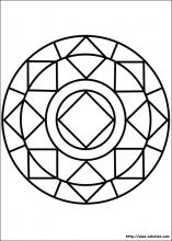 Coloriage mandala diamant