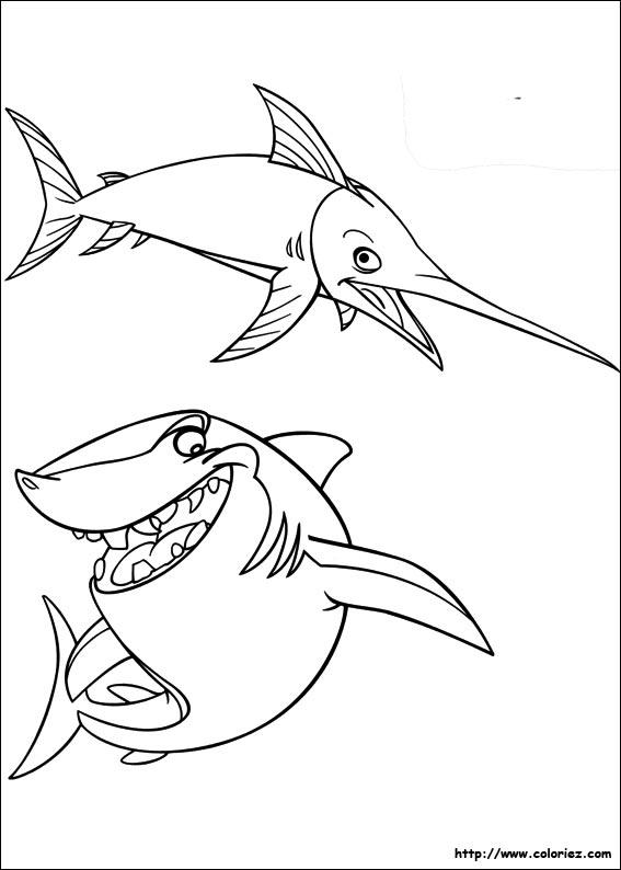 Coloriage Requin Et Espadon