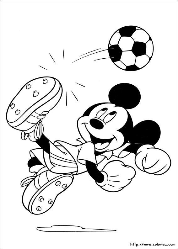 Coloriage Mickey Joueur De Foot
