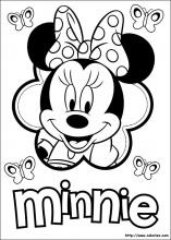 Coloriage A Imprimer Minnie.Coloriage Minnie Choisis Tes Coloriages Minnie Sur Coloriez