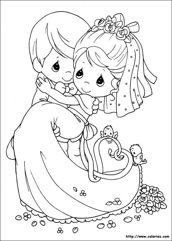 Coloriage Moments Precieux Du Mariage