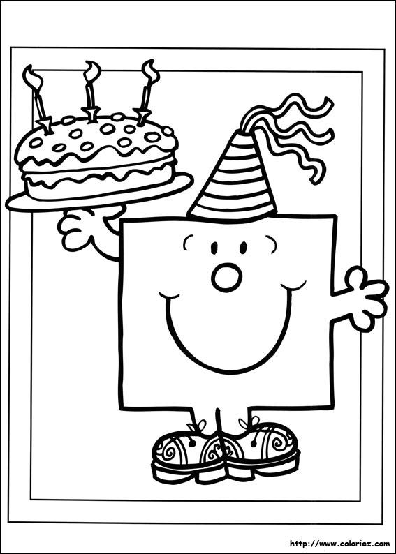 coloriage du gateau d anniversaire