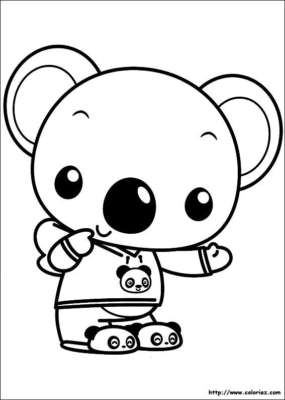 Coloriage Coloriage D Un Panda Tout Doux