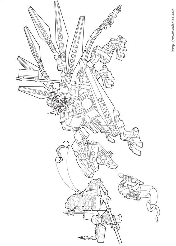 Coloriage Le Dragon De Titane