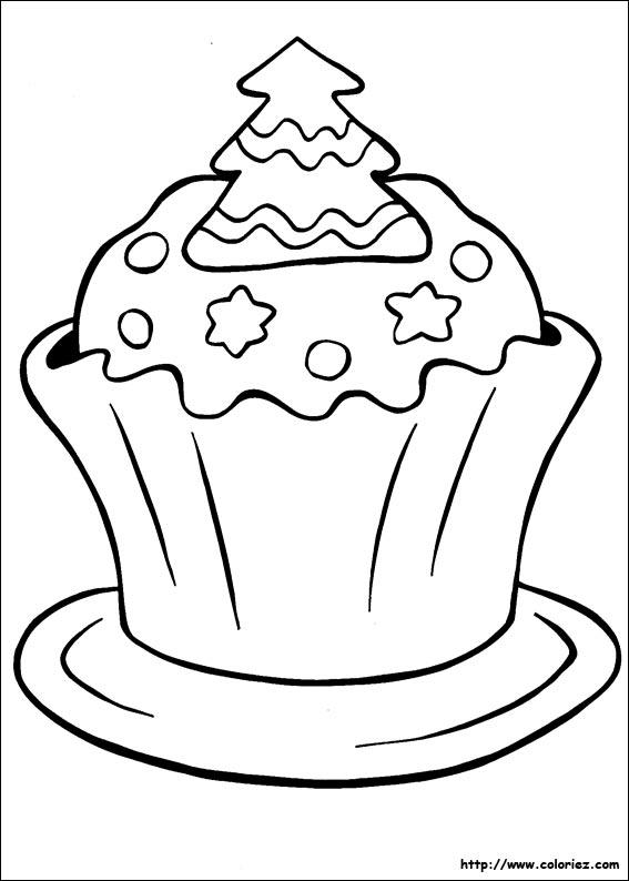 Coloriage Gâteau De Noël
