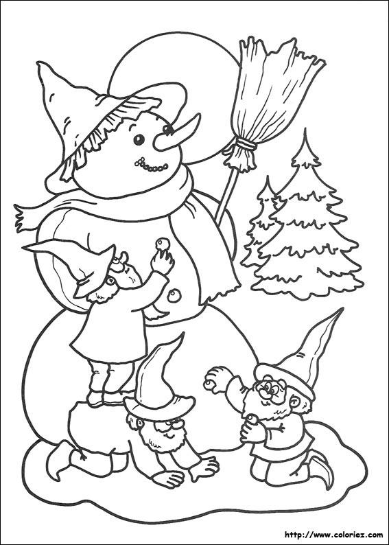 Coloriage Bonhomme De Neige Noel.Coloriage Bonhomme De Neige Geant