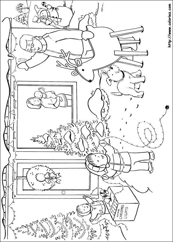 Coloriage d coration de la fa ade de la maison - Decoration de noel dessin ...
