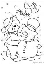 Coloriage Bonhomme De Neige Noel.Les Coloriages De Noel