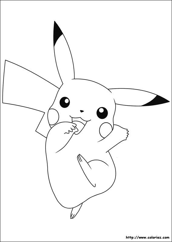 Coloriage A Imprimer Pikachu.Coloriage Pikachu