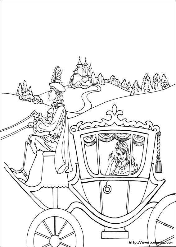 Dessin Carrosse coloriage - princesse léonora dans son carosse