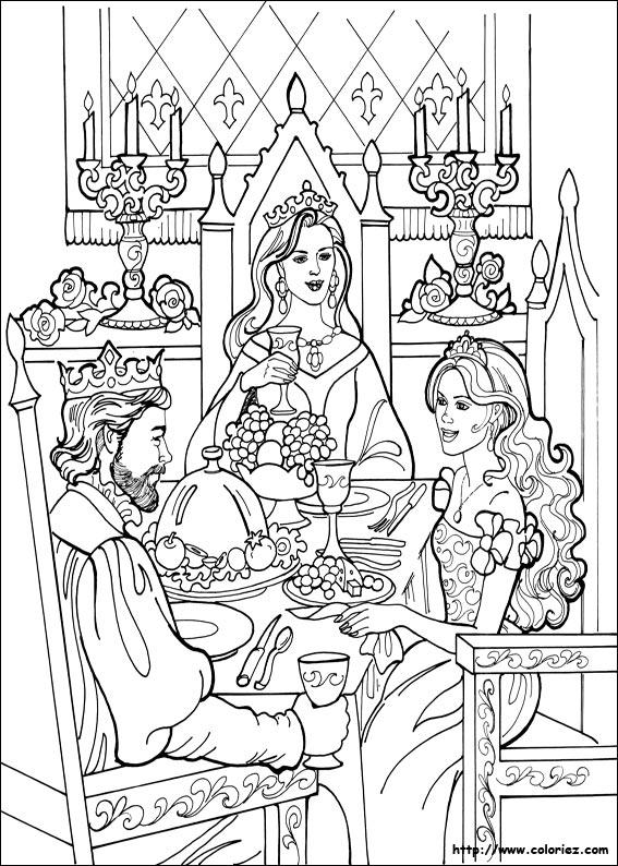 Coloriage Table Princesse.Coloriage Princesse Leonora A Table