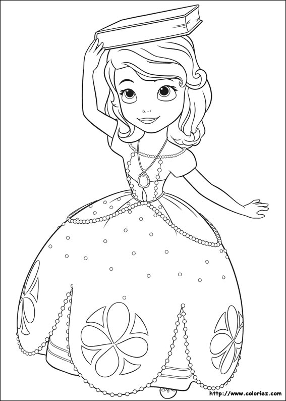 Princesse Sofia Coloriage Coloriage Princesse Sofia Dans Sa Robe