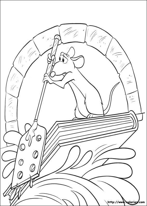 Coloriage Ratatouille Remy Rame