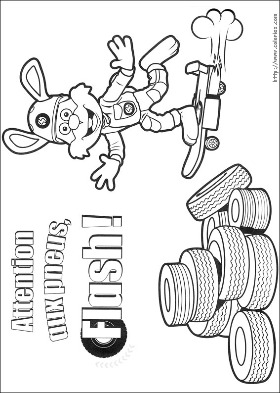 Coloriage Coloriage De Flash En Skateboard