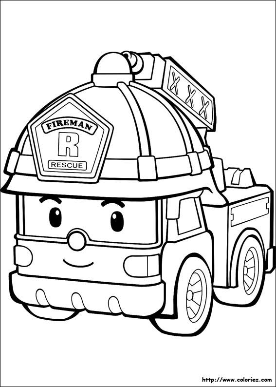 Coloriage Camion De Pompier