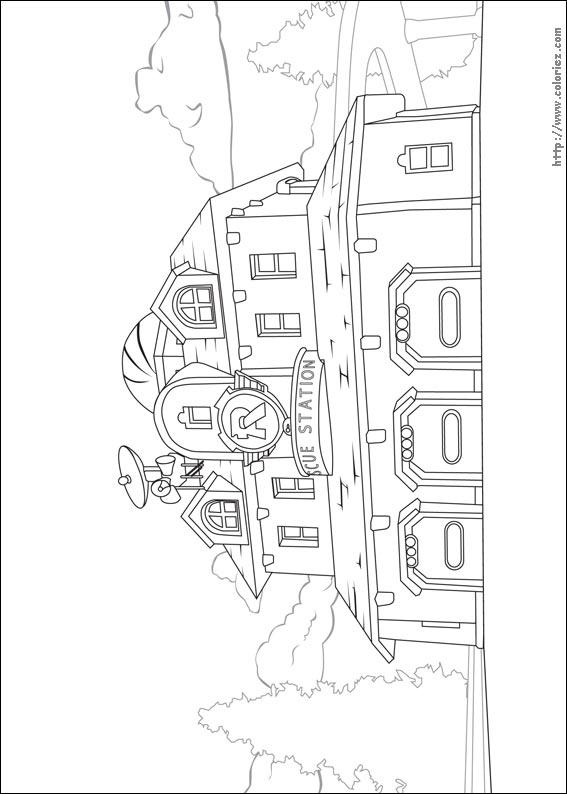Rescue Bots Kleurplaat Coloriage Caserne Des Pompiers De Vroom Ville