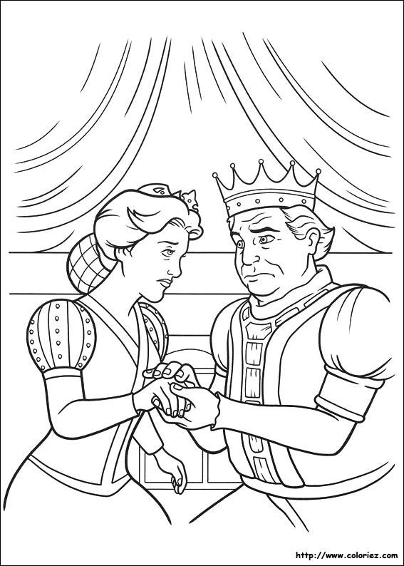 Coloriage Coloriage Du Roi Et De La Reine