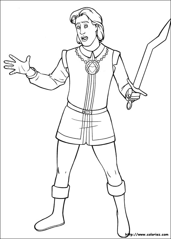Coloriage Le Prince Charmant Acteur