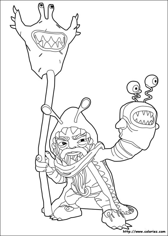 Coloriage Chompy Mage