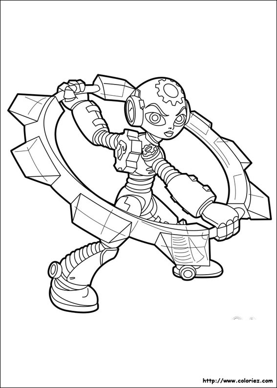 Coloriage Robot Fille.Coloriage Gearshift