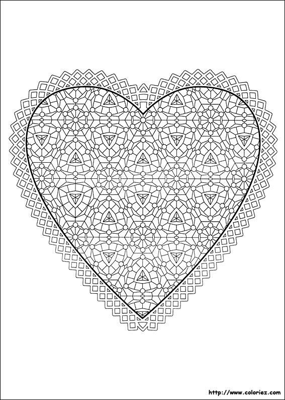 Coloriage Magique Coeur A Imprimer.Coloriage Coloriage D Un Coeur A Offrir