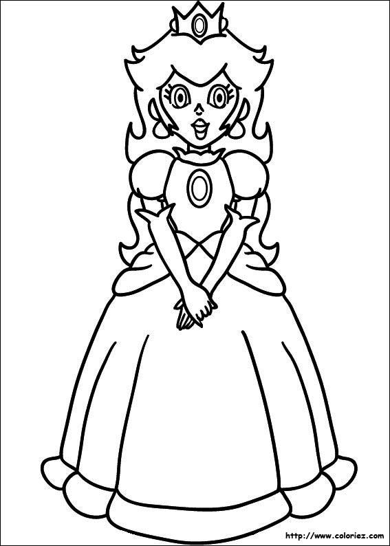 Coloriage Princesse Peach