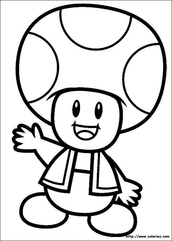 COLORIAGE - Toad