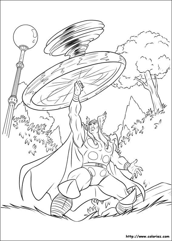 COLORIAGE - Le tourbillon de Thor