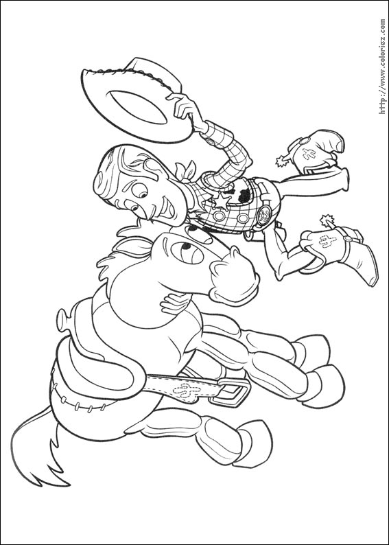 Coloriage woody caresse pil poil - Coloriage toy story 3 ...