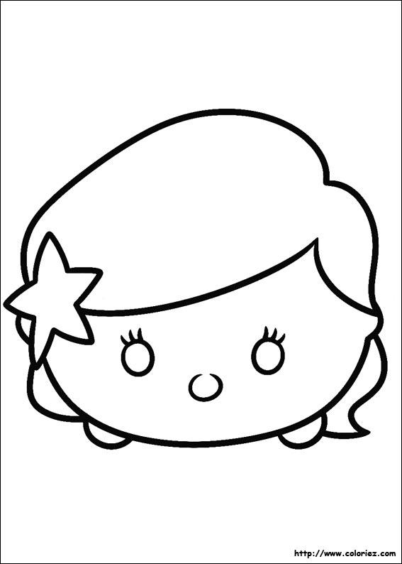 Coloriage Tsum Tsum Ariel