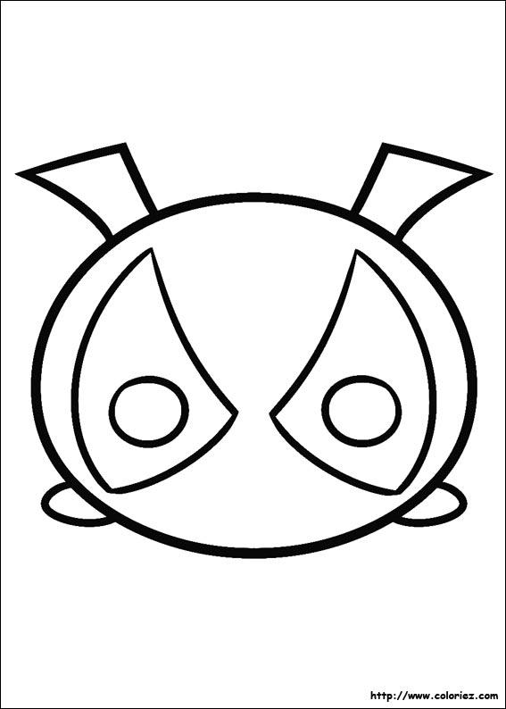 Coloriage Tsum Tsum Deadpool