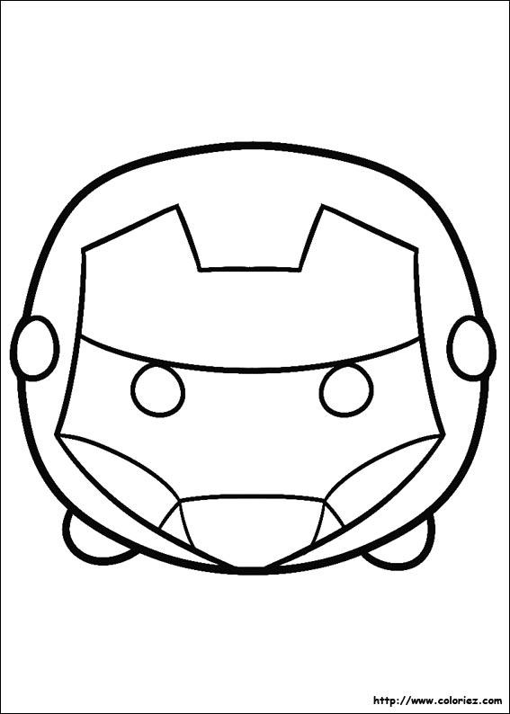 Coloriage Tsum Tsum Iron Man