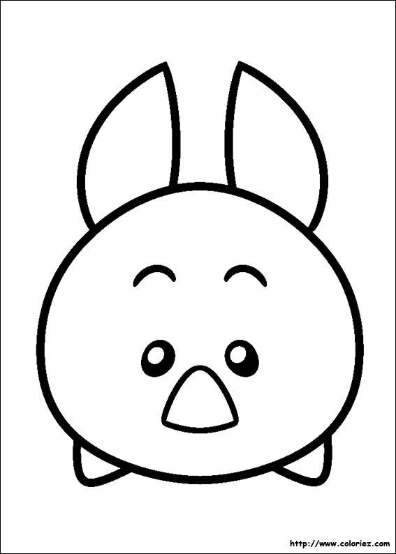 Coloriage Tsum Tsum Porcinet