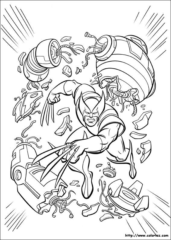 Coloriage Le Puissant Wolverine